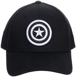 Picture of Captain America Black and White Flex Cap