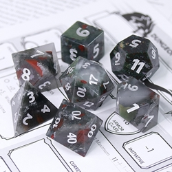 Picture of African Bloodstone Gemstone Dice Set