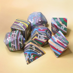 Picture of Thermal Mapping Gemstone Dice Set