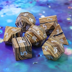 Picture of Tree Ring Gemstone Dice Set