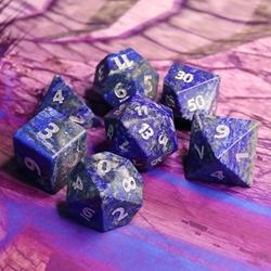 Picture of Lazurite Gemstone Dice Set